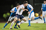 St Johnstone v Ross County…24.10.17…  McDiarmid Park…  SPFL<br />Ross Draper and Paul Paton<br />Picture by Graeme Hart. <br />Copyright Perthshire Picture Agency<br />Tel: 01738 623350  Mobile: 07990 594431