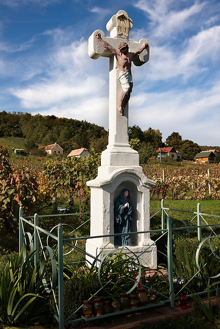 Cross of the blue Madonna - Korseg (Körseg) vineyards, Velem, Hungary
