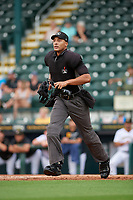 Umpire Jon-Tyler Shaw during Game One of the Low-A Southeast Championship Series between the Tampa Tarpons and Bradenton Marauders on September 21, 2021 at LECOM Park in Bradenton, Florida.  (Mike Janes/Four Seam Images)