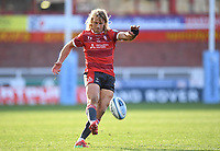 5th September 2020; Kingsholm Stadium, Gloucester, Gloucestershire, England; English Premiership Rugby, Gloucester versus London Irish; Billy Twelvetrees of Gloucester kicks a conversion