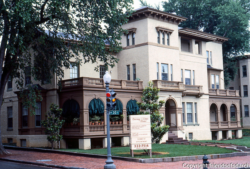 D.C.: Georgetown--Italianate Villa by A.J. Downing & C. Vaux. Francis Dodge Jr. House, 1517 30th NW, 1852.  Photo '85.