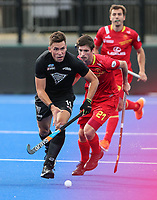 Jacob Smith during the Pro League Hockey match between the Blacksticks men and the Spain, Nga Punawai, Christchurch, New Zealand, Sunday 16 February 2020. Photo: Simon Watts/www.bwmedia.co.nz