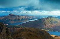 Ben Lomond, Ben Reoch and Loch Lomond from Beinn Narnain, the Arrochar Alps, Loch Lomond and the Trossachs National Park, Argyll & Bute