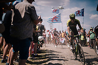 Mathew Hayman (AUS/Mitchelton-Scott) on pavé sector #4<br /> <br /> Stage 9: Arras Citadelle > Roubaix (154km)<br /> <br /> 105th Tour de France 2018<br /> ©kramon