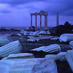 Asia, TUR, Turkey, Side, Apollon Temple in the evening light, Dusk