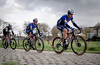 Mark Cavendish (GBR/Deceuninck - Quick Step) tailing Sam Bennett (IRE/Deceuninck - Quick Step)<br />