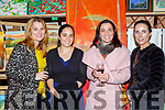 Evelyn Murphy, Hanne Winther, Michelle Sweeney and Denise Gleeson at the Killarney Rotary club Wine and ARt evening in the Great Southern Hotel