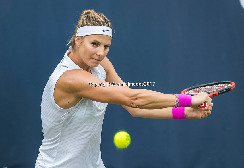 Den Bosch, Netherlands, 13 June, 2017, Tennis, Ricoh Open, Mandy Minella (LUX)<br /> Photo: Henk Koster/tennisimages.com