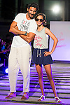 Oscar Higares and his daughter during the fashion show By Nerea Garmendia of his 2nd Anniversay at COAM in Madrid. June 06. 2016. (ALTERPHOTOS/Borja B.Hojas)