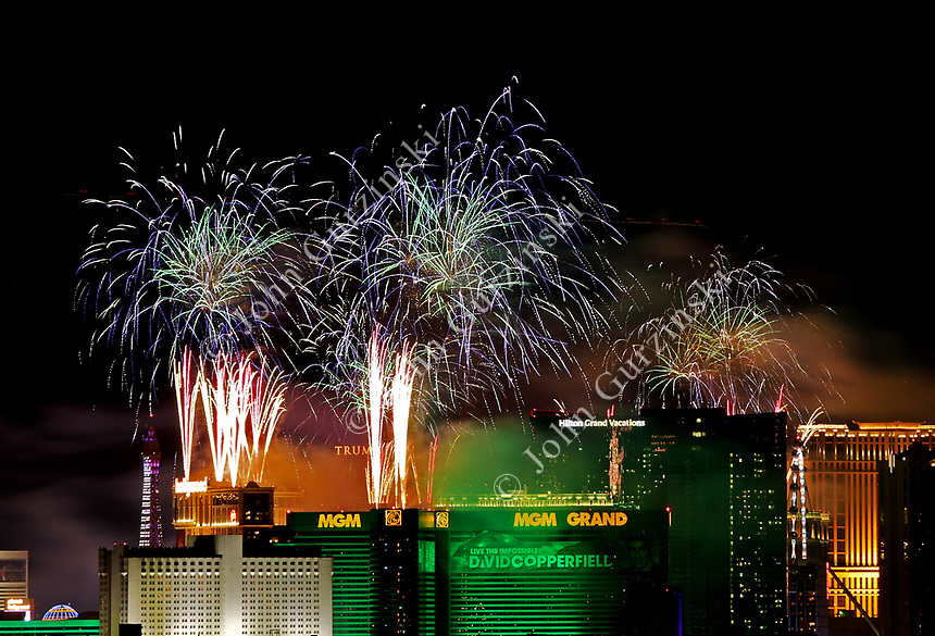 Las Vegas New Years Fireworks 010120