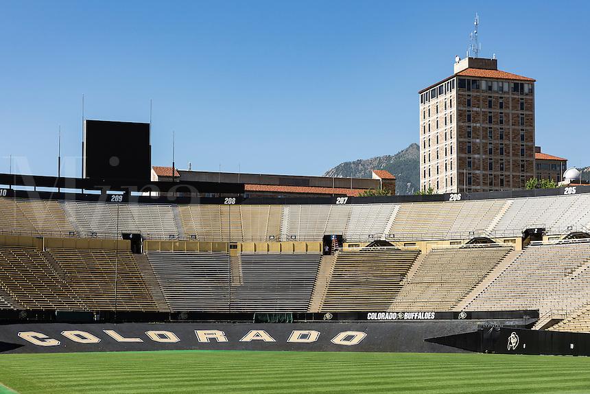 Folsom Field Football stadium, University of Colorado, Boulder, Colorado, USA.