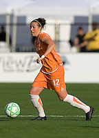 03 May 2009: Meghan Schnur of the Sky Blue FC in action during the game against FC Gold Pride at Buck Shaw Stadium in Santa Clara, California.   FC Gold Pride defeated Sky Blue FC, 1-0.