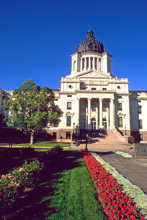 Dome capitol building in the capitol of Pierre South Dakota