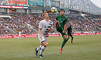 Chester, PA - Monday May 28, 2018: Walker Zimmerman, Alexis Ribera during an international friendly match between the men's national teams of the United States (USA) and Bolivia (BOL) at Talen Energy Stadium.