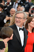 """FRA: """"THE BFG"""" Red Carpet- The 69th Annual Cannes Film Festival - Steven Spielberg Gunther Love, attend """"THE BFG"""". Red Carpet during The 69th Annual Cannes Film Festival on May 14, 2016 in Cannes, France."""