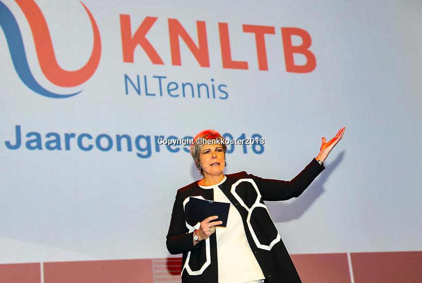 Nieuwegein,  Netherlands, 24 November 2018, KNLTB Year congress KNLTB, prinses Laurentien<br /> Photo: Tennisimages.com/Henk Koster