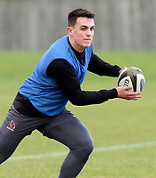16th February 2021;  James Hume during an Ulster Rugby squad pitch session held at Pirrie Park, Belfast, Northern Ireland. Photo by John Dickson/Dicksondigital