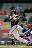 February 28 2010: Curt Castall of Vanderbilt  during game against Oklahoma State at Dodger Stadium in Los Angeles,CA.  Photo by Larry Goren/Four Seam Images