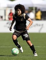 26 April 2009: Eriko Arakawa of the FC Gold Pride in action during the game against Washington Freedom at Buck Shaw Stadium in Santa Clara, California.   Washington Freedom defeated FC Gold Pride, 4-3.