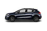 Car Driver side profile view of a 2016 Ds DS4 Opera-Blue 5 Door Hatchback Side View
