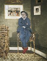 VUILLARD, Edouard (1868-1940). Félix Vallotton. 1900. Painter. Oil on cardboard buried in wood. Symbolism. Les Nabis. Oil. FRA