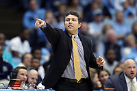 CHAPEL HILL, NC - JANUARY 4: Head coach Josh Pastner of Georgia Tech during a game between Georgia Tech and North Carolina at Dean E. Smith Center on January 4, 2020 in Chapel Hill, North Carolina.