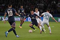 28th September 2021, Parc des Princes, Paris, France: Champions league football, Paris-Saint-Germain versus Manchester City:  Marco Verrati ( 6 - PSG ) goes past Bernardo Silva ( 20 - Manchester City ) - Neymar Jr ( 10 - PSG )