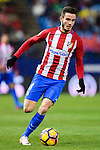 Saul Niguez Esclapez of Atletico de Madrid in action during their La Liga match between Atletico de Madrid and RC Celta de Vigo at the Vicente Calderón Stadium on 12 February 2017 in Madrid, Spain. Photo by Diego Gonzalez Souto / Power Sport Images