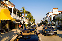 Expensive Real Estate and shopping on the Famous Rich Worth Avenue in Palm Beach Florida with palm trees and wealt