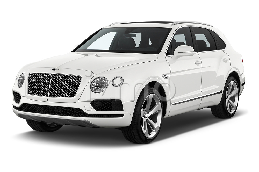 2019 Bentley Bentayga 4wd 5 Door SUV Angular Front automotive stock photos of front three quarter view