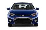 Car photography straight front view of a 2016 Toyota Corolla S Premium 4 Door Sedan Front View