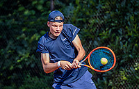 Hilversum, Netherlands, August 5, 2021, Tulip Tennis center, National Junior Tennis Championships 16 and 18 years, NJK,Boys single 16 years, Abel Forger (NED)<br /> Photo: Tennisimages/Henk Koster
