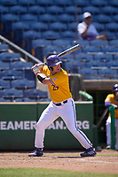 East Carolina Pirates Christian Smallwood (25) bats during a game against the Memphis Tigers on May 25, 2021 at BayCare Ballpark in Clearwater, Florida.  (Mike Janes/Four Seam Images)