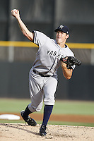July 11, 2009:  Pitcher Lance Pendleton of the Tampa Yankees during a game at Dunedin Stadium in Dunedin, FL.  Tampa is the Florida State League High-A affiliate of the New York Yankees.  Photo By Mike Janes/Four Seam Images