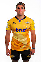 Callum Gibbins. Hurricanes Super Rugby official headshots at Rugby League Park, Wellington, New Zealand on Tuesday, 13 January 2015. Photo: Dave Lintott / lintottphoto.co.nz