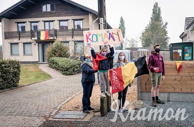 """""""Come on"""" : modest roadside activities during this pandemic edition of the 104th Ronde van Vlaanderen 2020 (1.UWT)<br /> <br /> 1 day race from Antwerpen to Oudenaarde (BEL/243km) <br /> <br /> ©kramon"""