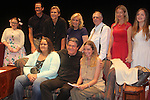 "Guiding Light's Michael O'Leary author of ""Breathing Under Dirt"" poses with fans and cast - Meredith Taylor, Emma Gilliland, Jeff Smith, Grant Aleksander, Tina Sloan, Robert Forester, Cynthia Watros - full play - had its world premier on August 13 and 14, 2016 at the Ella Fitzgerald Performing Arts Center, University of Maryland Eastern Shore, Princess Anne, Maryland  (Photo by Sue Coflin/Max Photos)"