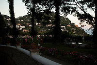 Homes on a hillside are seen from Giardini di Augusto on Monday, Sept. 21, 2015, on the island of Capri in Italy. (Photo by James Brosher)