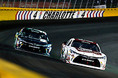 NASCAR XFINITY Series<br /> Drive for the Cure 300<br /> Charlotte Motor Speedway, Concord, NC<br /> Saturday 7 October 2017<br /> Erik Jones, Main Street Bistro Toyota Camry and Daniel Suarez, Juniper Toyota Camry<br /> World Copyright: Russell LaBounty<br /> LAT Images