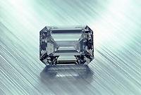 A square cut diamond.