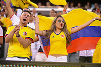 East Rutherford, NJ - Friday June 17, 2016: Fans during a Copa America Centenario quarterfinal match between Peru (PER) vs Colombia (COL) at MetLife Stadium.