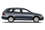 Passenger side profile view of a 2010 Volkswagen Jetta SportWagen S.