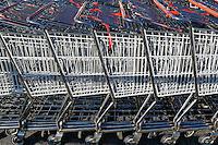 Supermarket shopping carts.