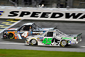 #4: Todd Gilliland, Kyle Busch Motorsports, Toyota Tundra JBL/SiriusXM and ]#45: Ross Chastain, Niece Motorsports, Chevrolet Silverado TruNorth/Paul Jr. Designs