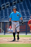 Miami Marlins Peyton Burdick (22) at bat during an Instructional League game against the Washington Nationals on September 26, 2019 at FITTEAM Ballpark of The Palm Beaches in Palm Beach, Florida.  (Mike Janes/Four Seam Images)