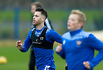 St Johnstone Training….19.10.20     <br />Guy Melamed pictured taking part in his first training session with his new team mates after completing his 14 day self isolation since arriving from Israel. <br />Picture by Graeme Hart.<br />Copyright Perthshire Picture Agency<br />Tel: 01738 623350  Mobile: 07990 594431