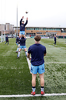 London Scottish practice line outs during the Greene King IPA Championship match between Ealing Trailfinders and London Scottish Football Club at Castle Bar , West Ealing , England  on 19 January 2019. Photo by Carlton Myrie/PRiME Media Images