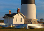 Cape Hatteras National Seashore, North Carolina: Bodie Island lighthouse (1872) detail, on North Carolina's Outer Banks