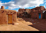 Adobe Houses, Northern Tiwa Indian, Taos Pueblo, Taos, New Mexico