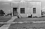 Beauty parlour building, called Bettys Beauty Box, small town America, called Happy, Texas 1990s 1999 USA